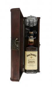 Truhla Jack Daniel´s Honey 1 l + spona + 2 sklo