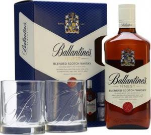 Ballantines  0,7l 40% + 2 skla