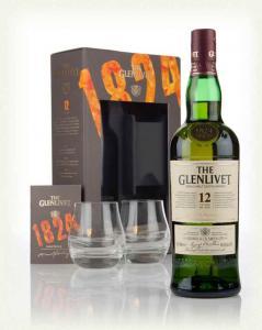 Glenlivet 12 YO 1824 0,7l 40% + 2 skla