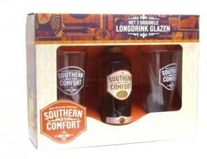 Southern Comfort 0.7l 35% kaz.+2 sklenice